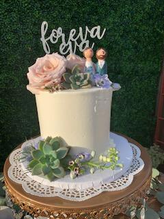 The Bahas wedding cake - San Diego DJ Becks Entertainment
