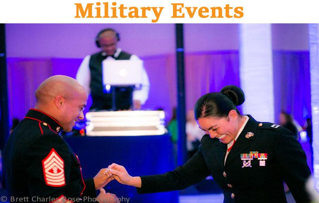 Military events becks entertainment san diego dj